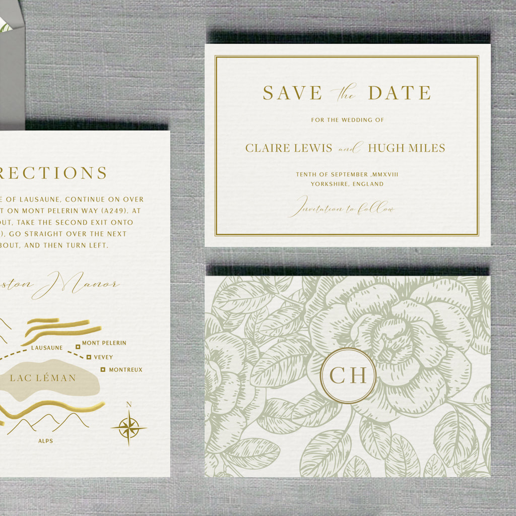 Buckingham Wedding Invitation - Feel Good Wedding Invitations