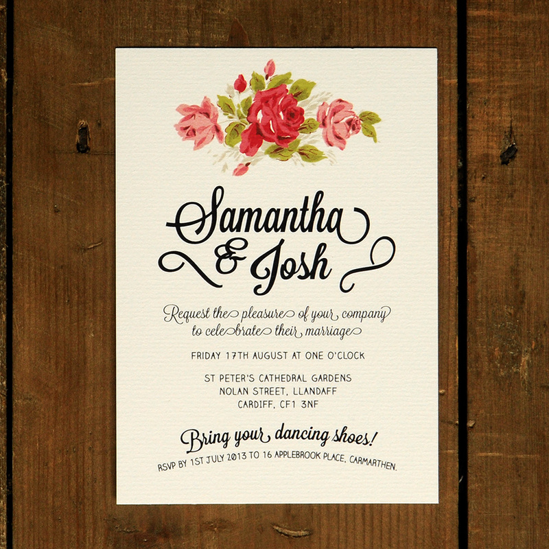 Floral Chalkboard Wedding Invitation Feel Good Wedding Invitations