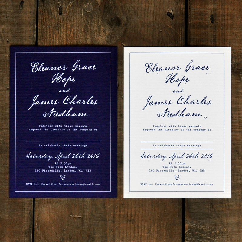 Fountain Pen Wedding Invitation - Feel Good Wedding Invitations