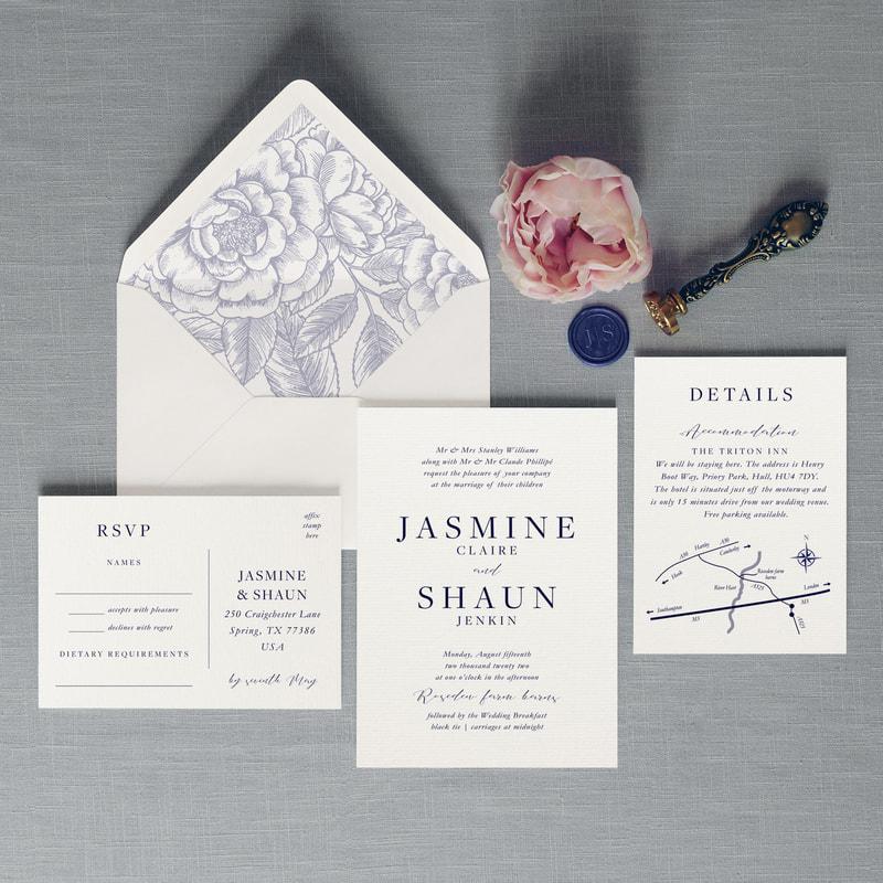 Tiffany Wedding Invitation - Feel Good Wedding Invitations