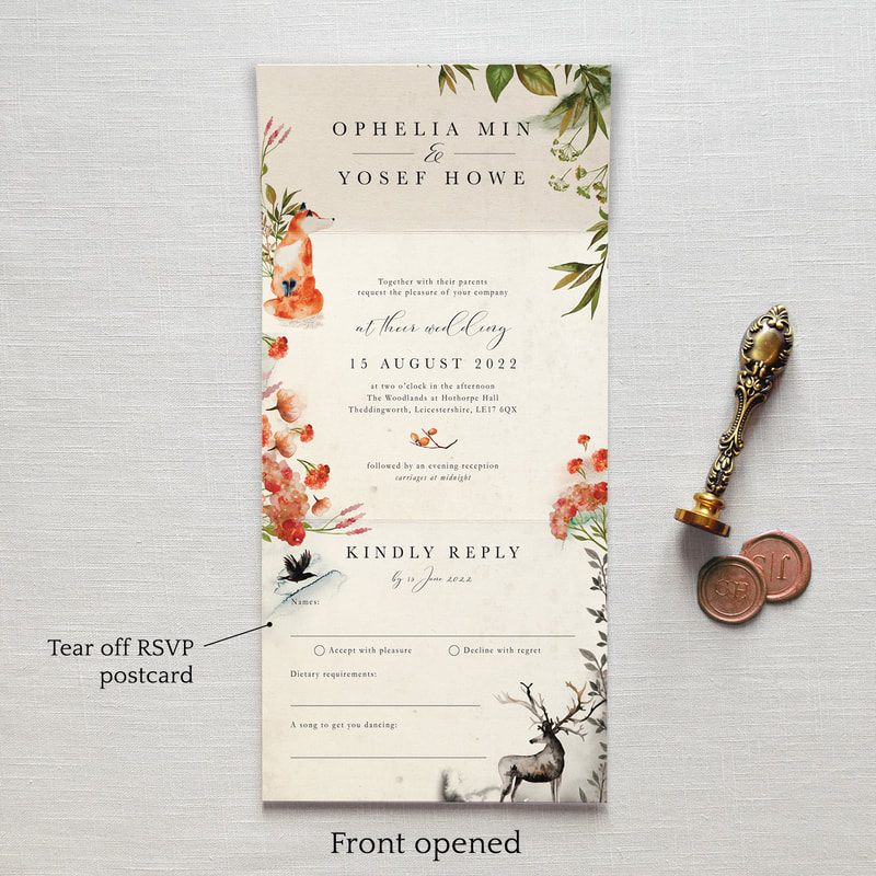 Once Upon A Time Wedding Invitation Feel Good Wedding Invitations
