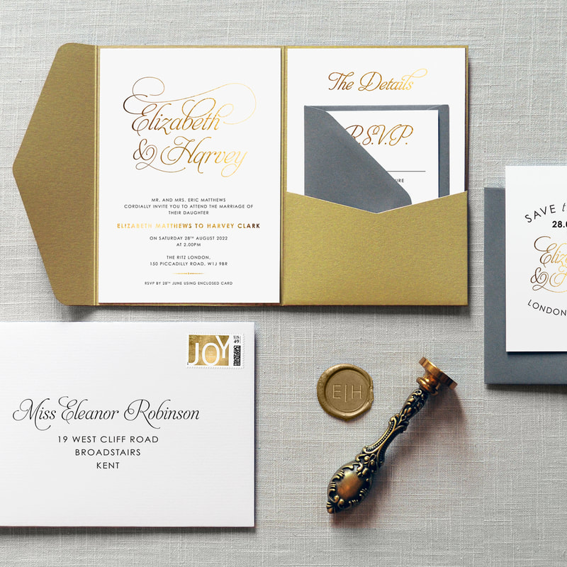 baroque foiled invitation feel good wedding invitations