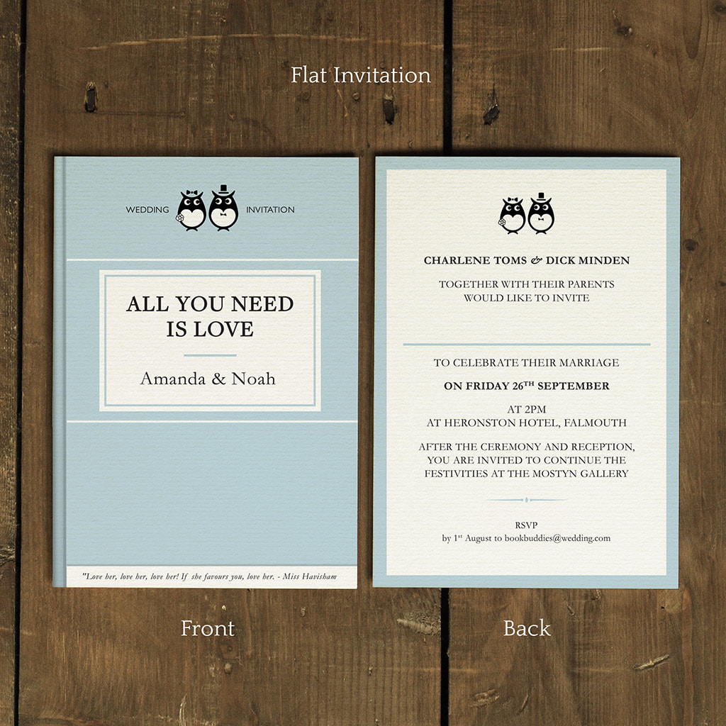 Classic Book Wedding Invitation Feel Good Wedding Invitations