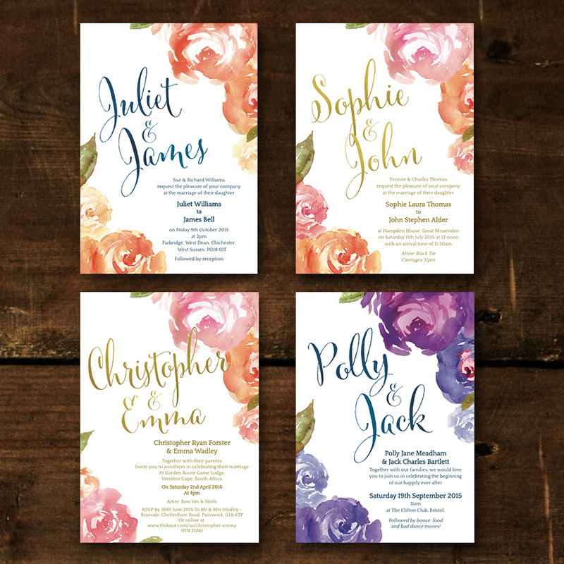 Peonies Wedding Invitation - Feel Good Wedding Invitations