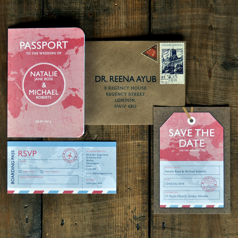 passport wedding invitation - feel good wedding invitations, Wedding invitations
