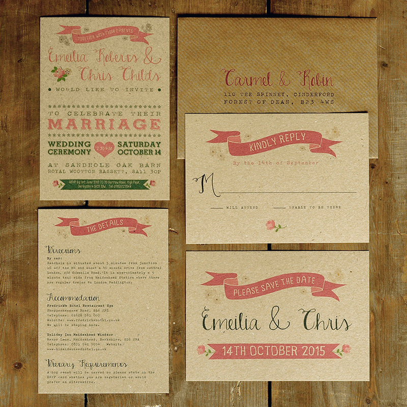 vintage country kraft Wedding Invitation - Feel Good Wedding ...