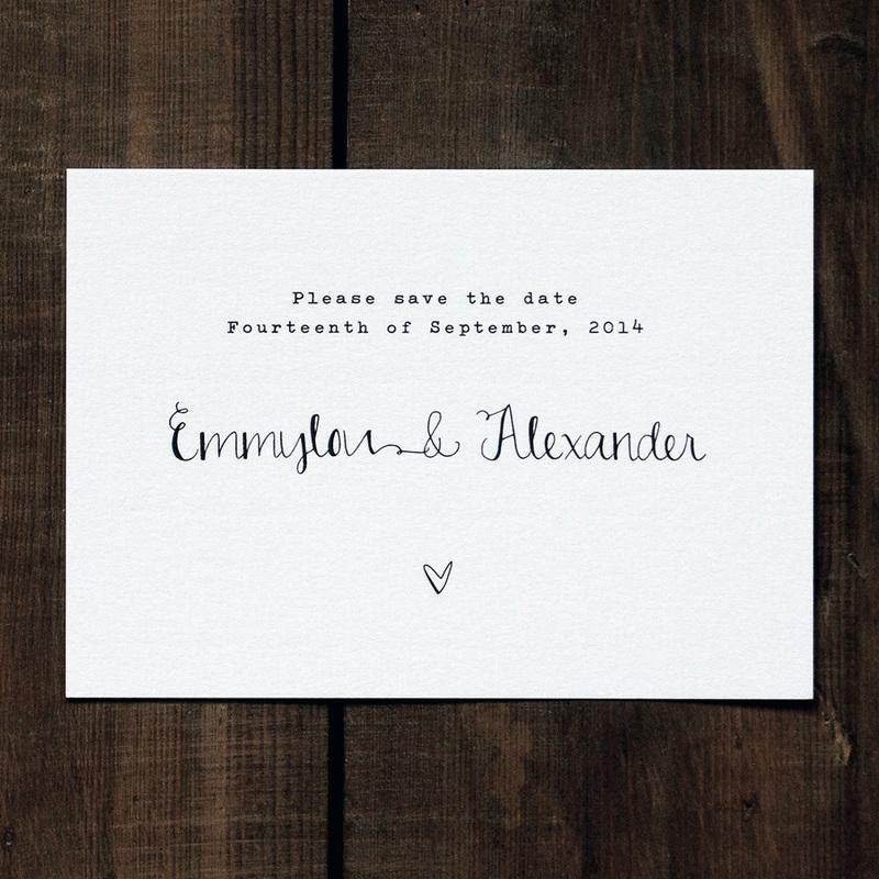Calligraphy Wedding Invitation - Feel Good Wedding Invitations