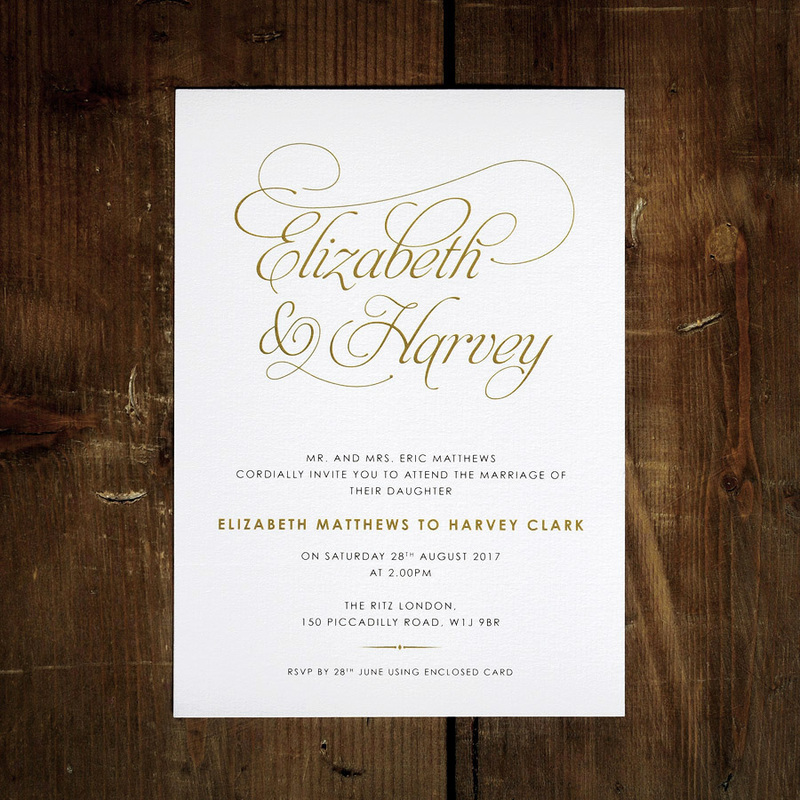 Baroque Wedding Invitation - Feel Good Wedding Invitations