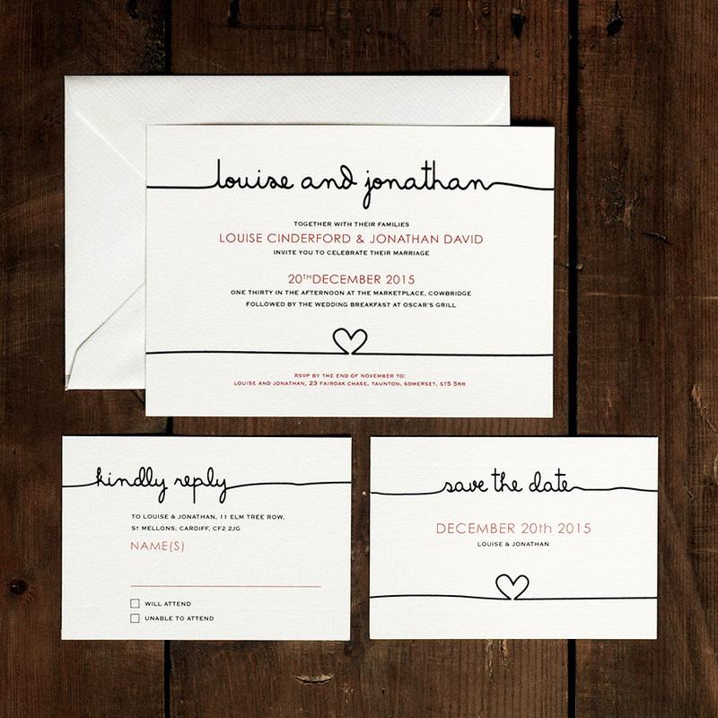 Scribble wedding invitation feel good wedding invitations filmwisefo