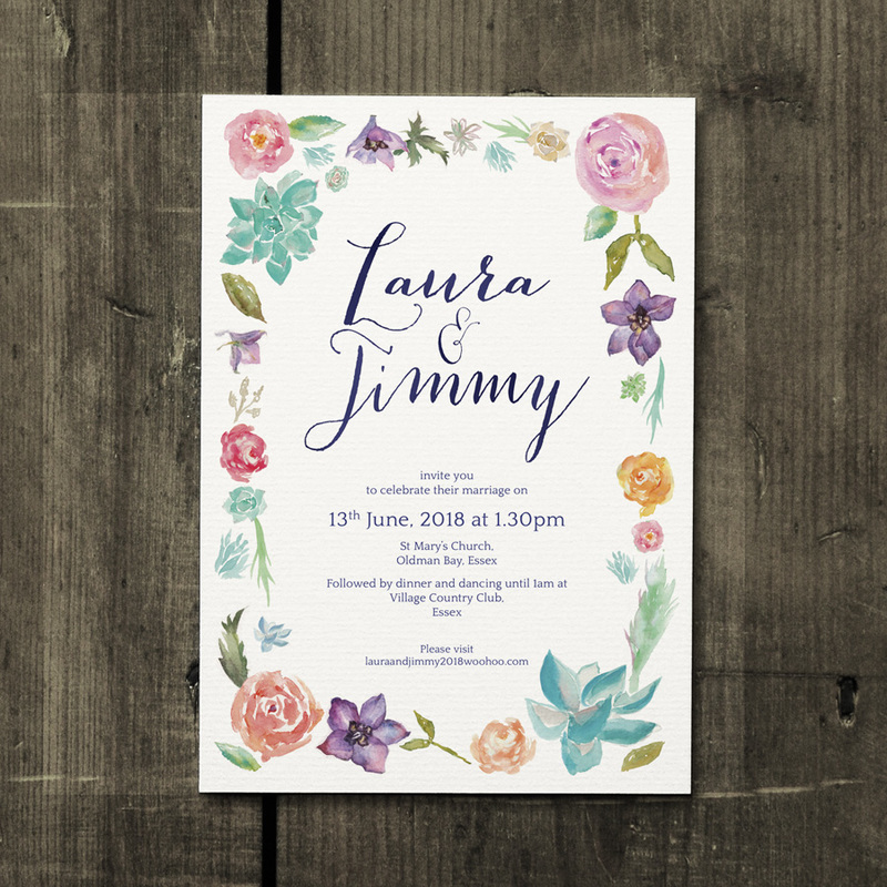Botanical Beauty Wedding Invitation - Feel Good Wedding Invitations