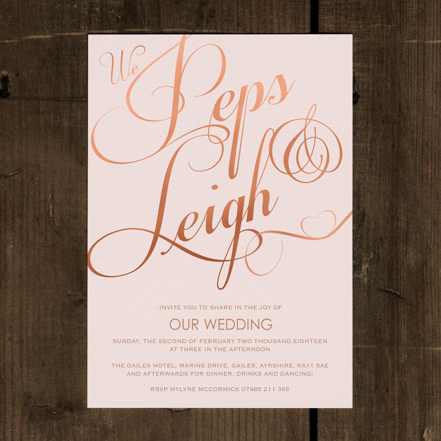 Elegant Classic Wedding Invitation - Feel Good Wedding Invitations