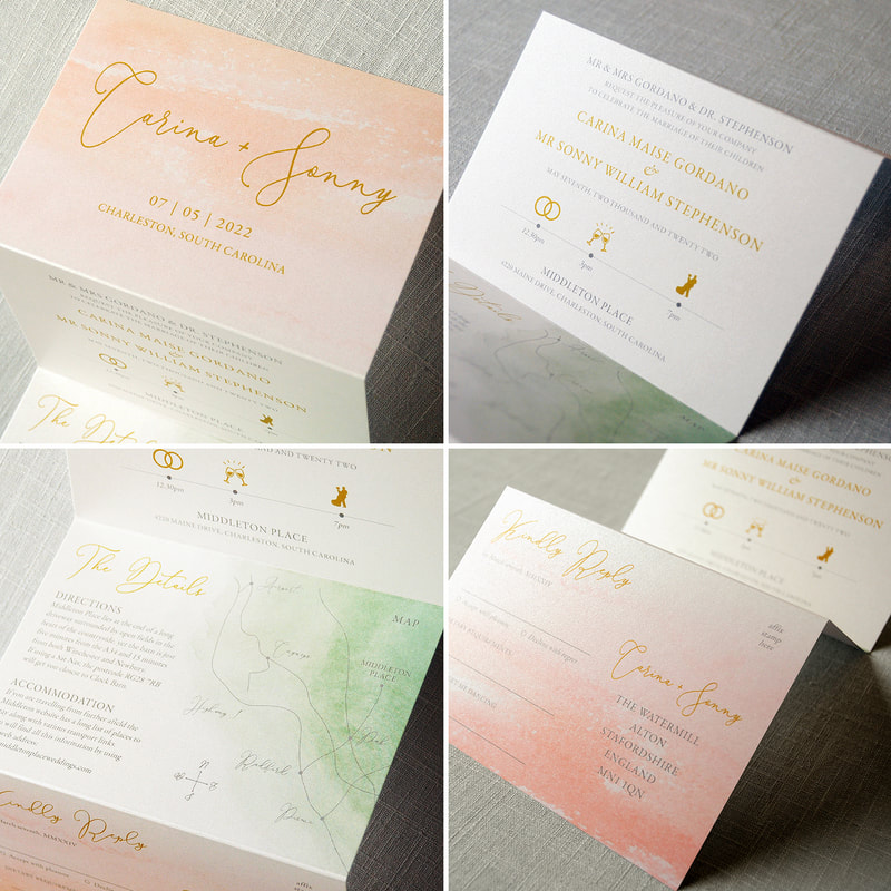 Bonbon Wedding Invitation Feel Good Wedding Invitations