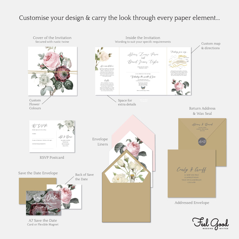 English Garden Wedding Invitation - Feel Good Wedding Invitations