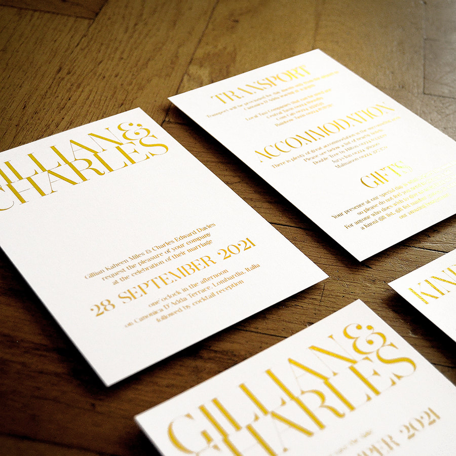 Mayfair Foil Invitation - Feel Good Wedding Invitations