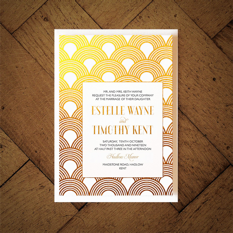 Great Gatsby Foil Invitation Feel Good Wedding Invitations