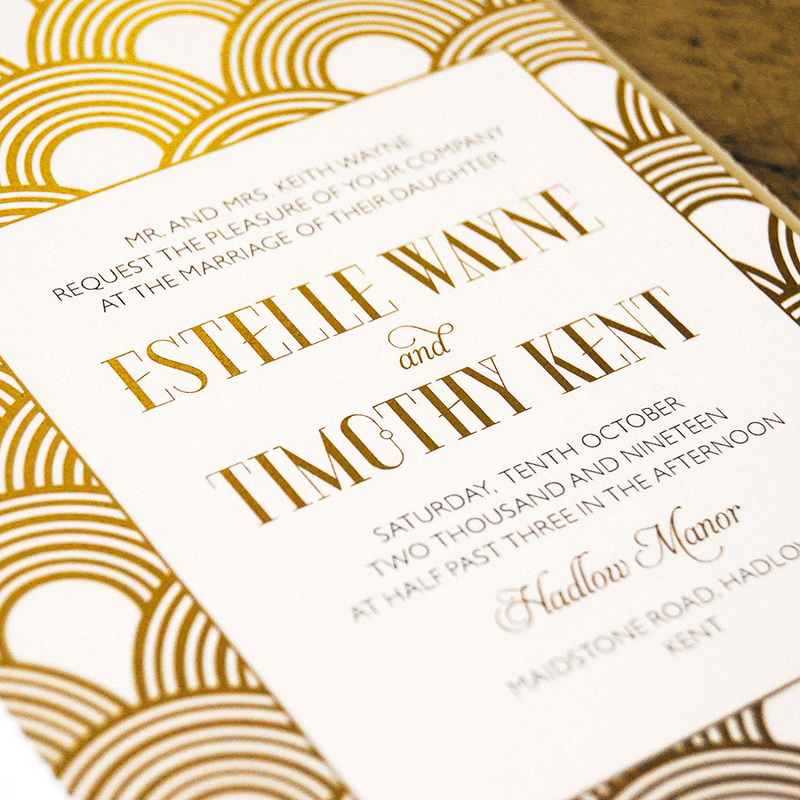 Great Gatsby Foil Invitation - Feel Good Wedding Invitations