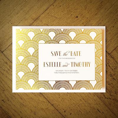 Great Gatsby Foil Invitation Feel Good Wedding Invitations
