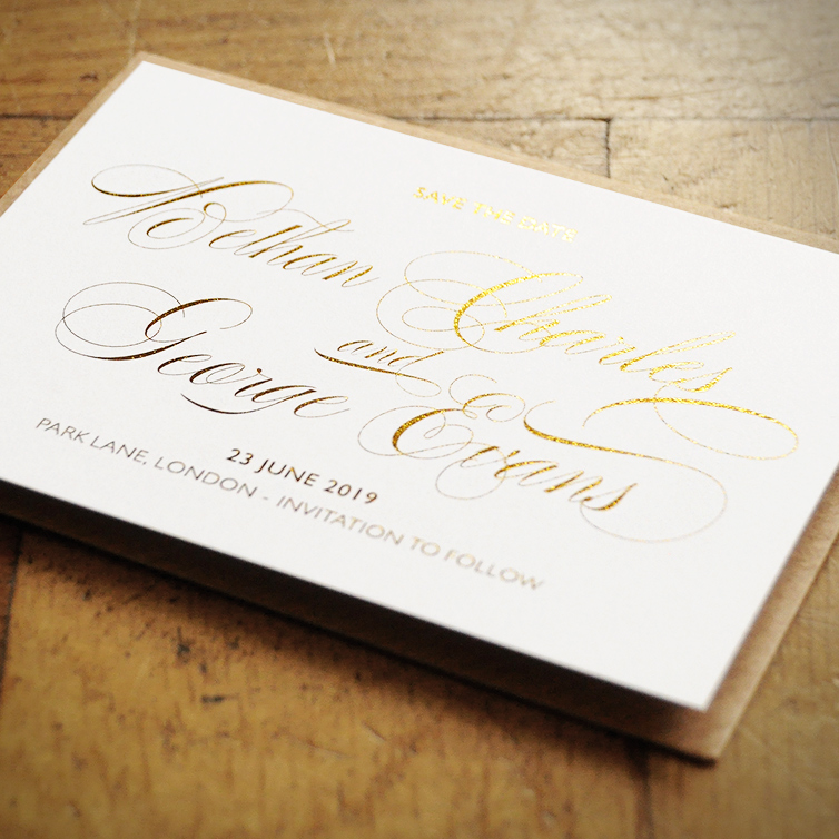 Royale - Foiled Invitation - Feel Good Wedding Invitations
