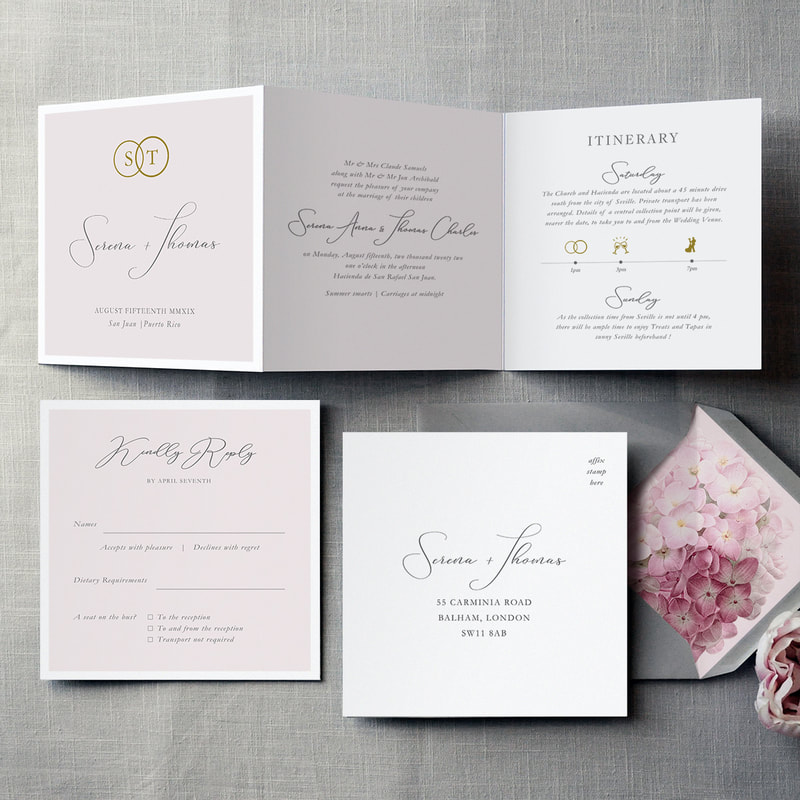 French Fancy Foil Invitation - Feel Good Wedding Invitations