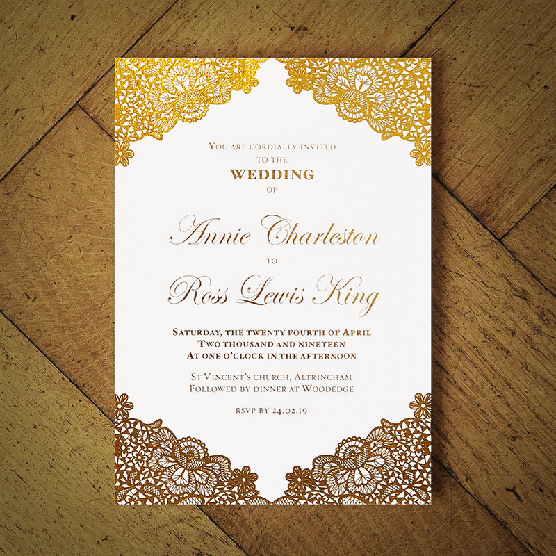 Versailles Foiled Invitation Feel Good Wedding Invitations
