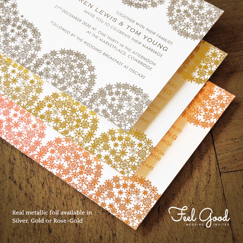 Confetti Swirl Foil Invitation - Feel Good Wedding Invitations