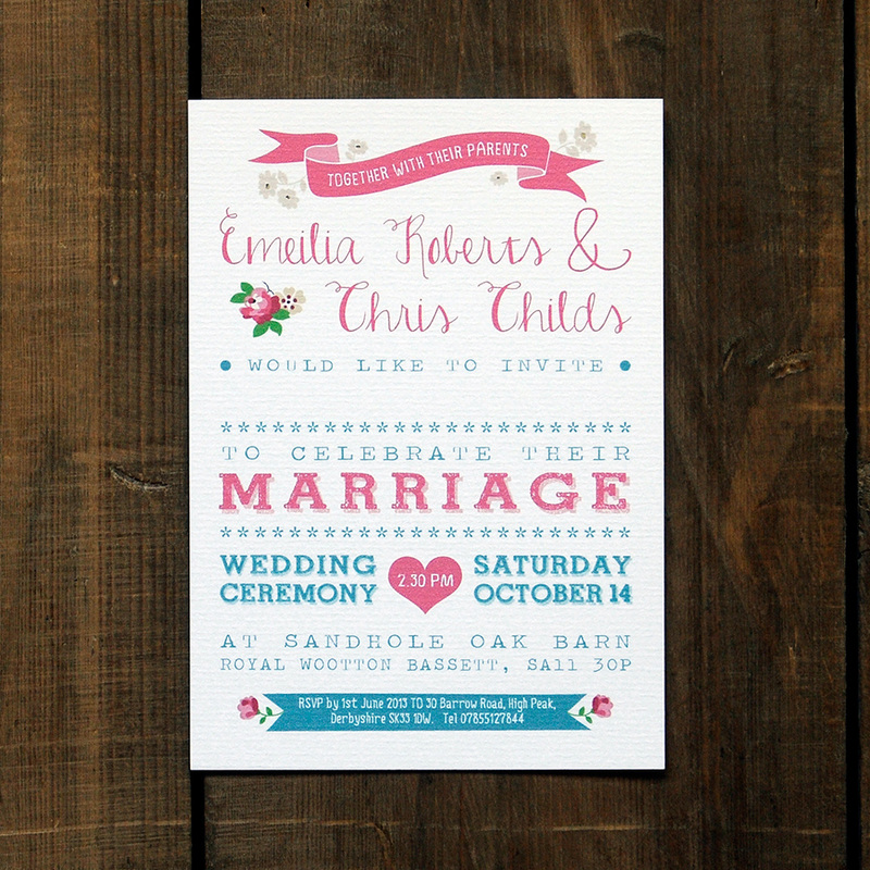 Places To Print Wedding Invitations: Vintage Country Wedding Invitation