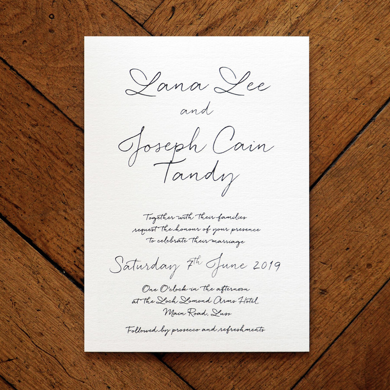 Love Letter Wedding Invitation Feel Good Wedding Invitations