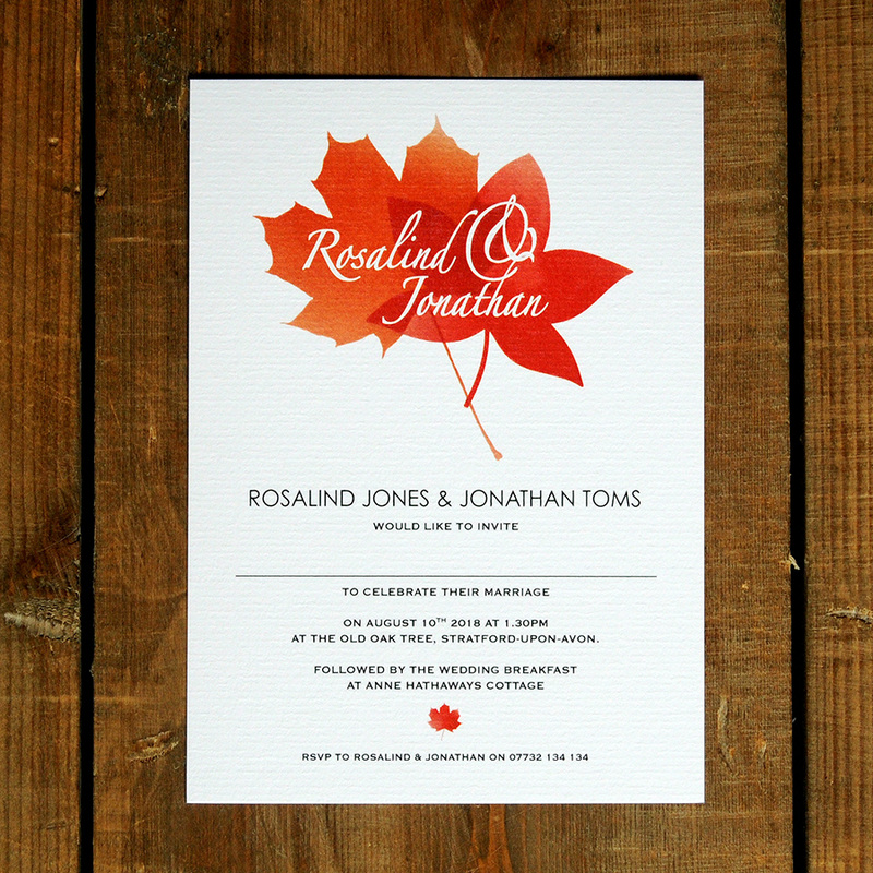 Autumn leaves wedding invitation feel good wedding invitations visit our shop to place a sample order or email us at hellofeelgoodinvites to discuss a specific quote we are happy to offer discounts for filmwisefo