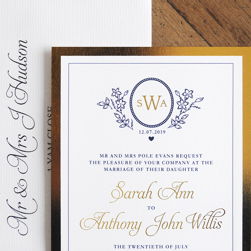 ascot foil invitation feel good wedding invitations