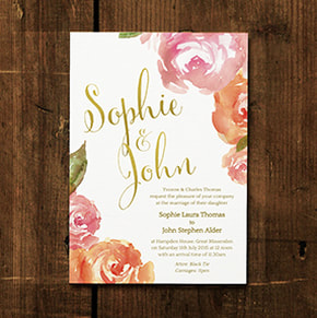 Whimsical Calligraphy Wedding Invitation